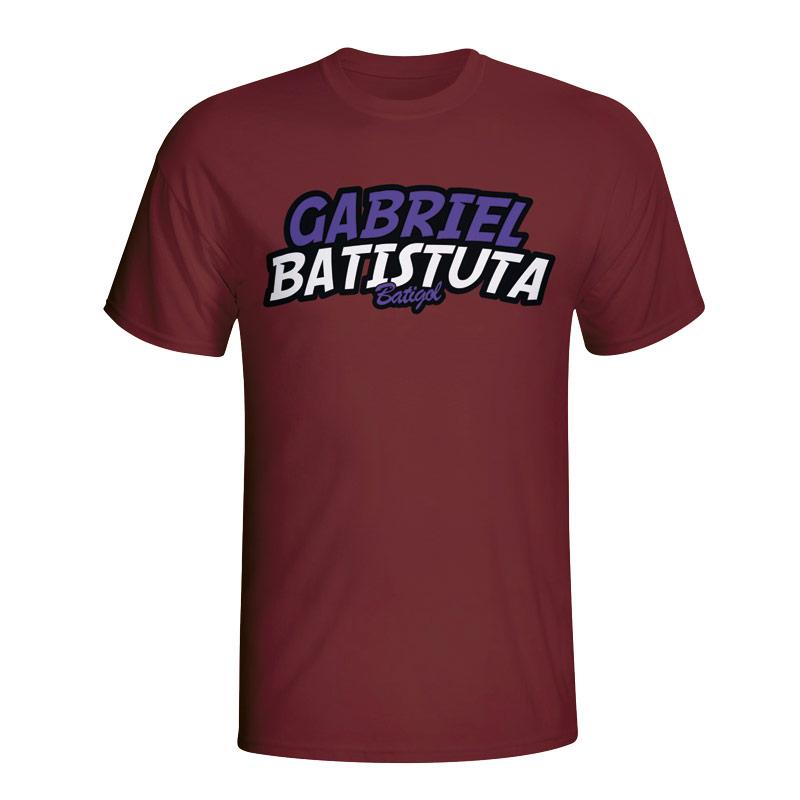 Gabriel Batistuta Comic Book T-shirt (maroon) - Kids