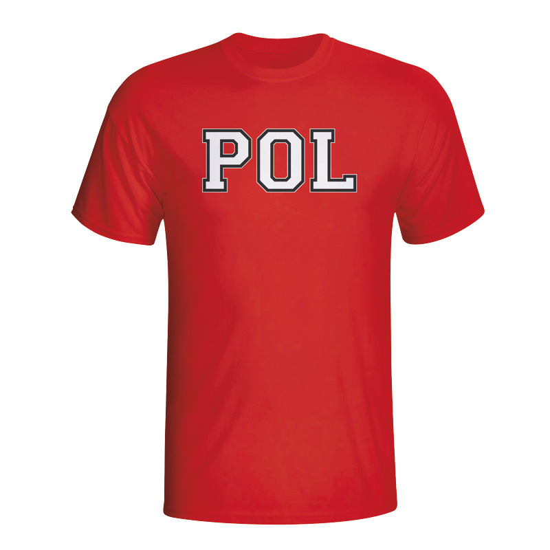 Poland Country Iso T-shirt (red)