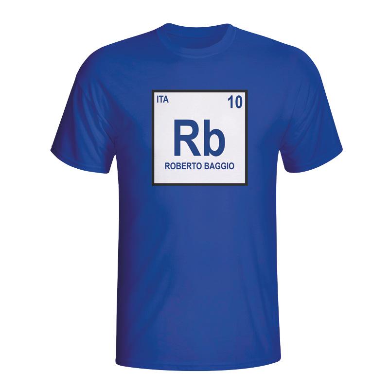 Roberto Baggio Italy Periodic Table T-shirt (blue)