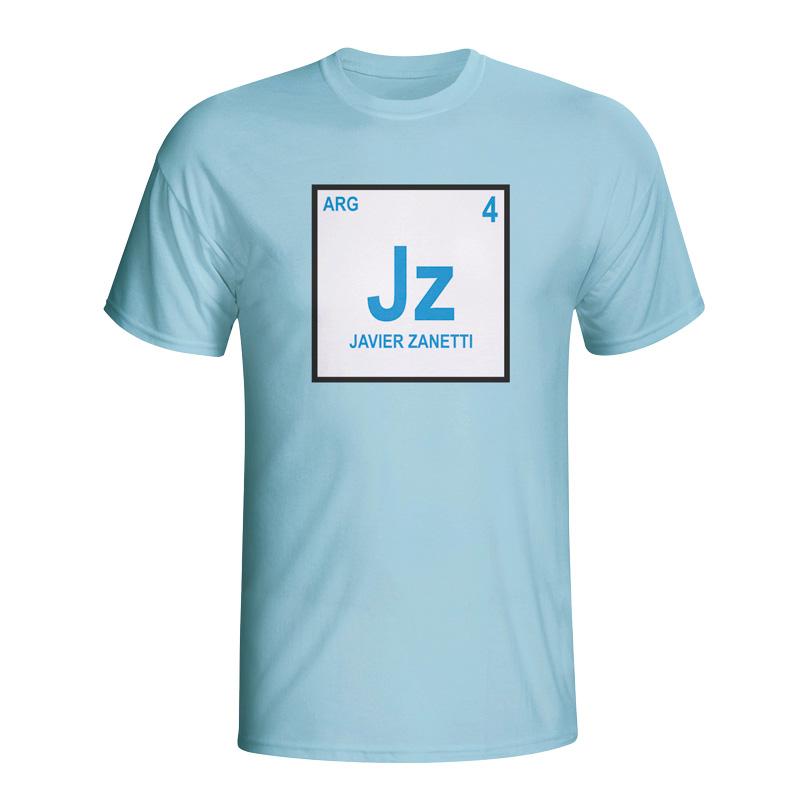 Javier Zanetti Argentina Periodic Table T-shirt (sky Blue)