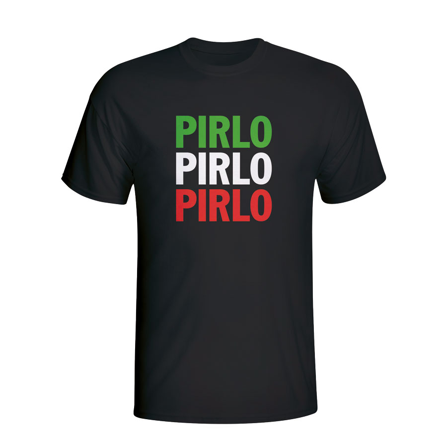 Andrea Pirlo Italy Player Flag T-shirt (black) - Kids
