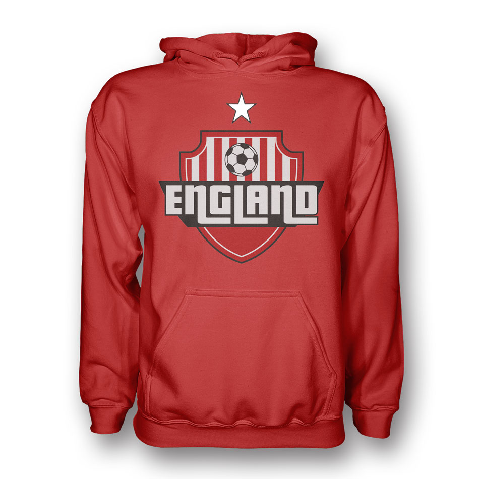 England Country Logo Hoody (red) - Kids