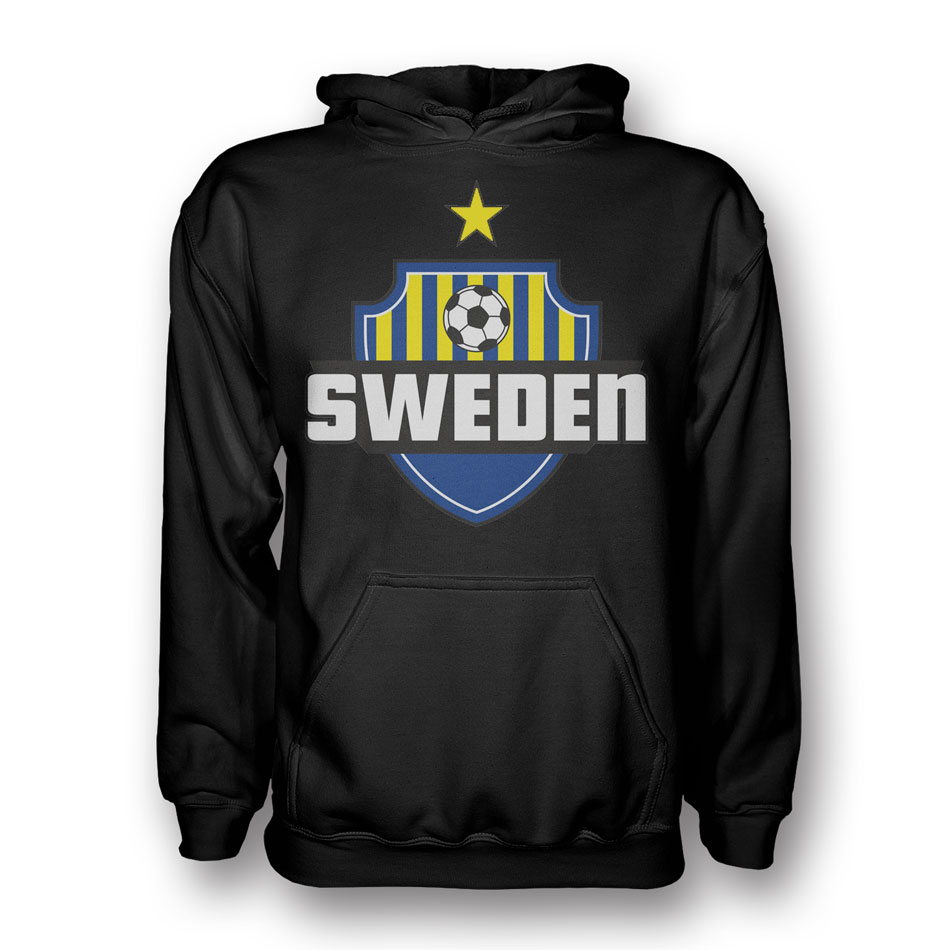 Sweden Country Logo Hoody (black) - Kids