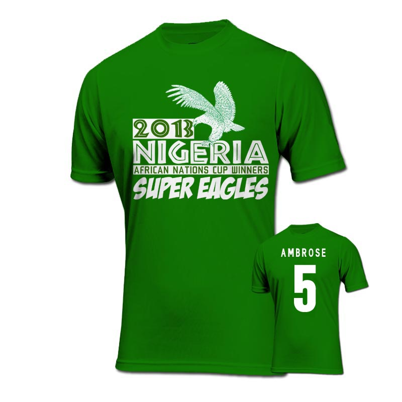 2013 Nigeria CAF Winners T-Shirt (Green) - Ambrose 5