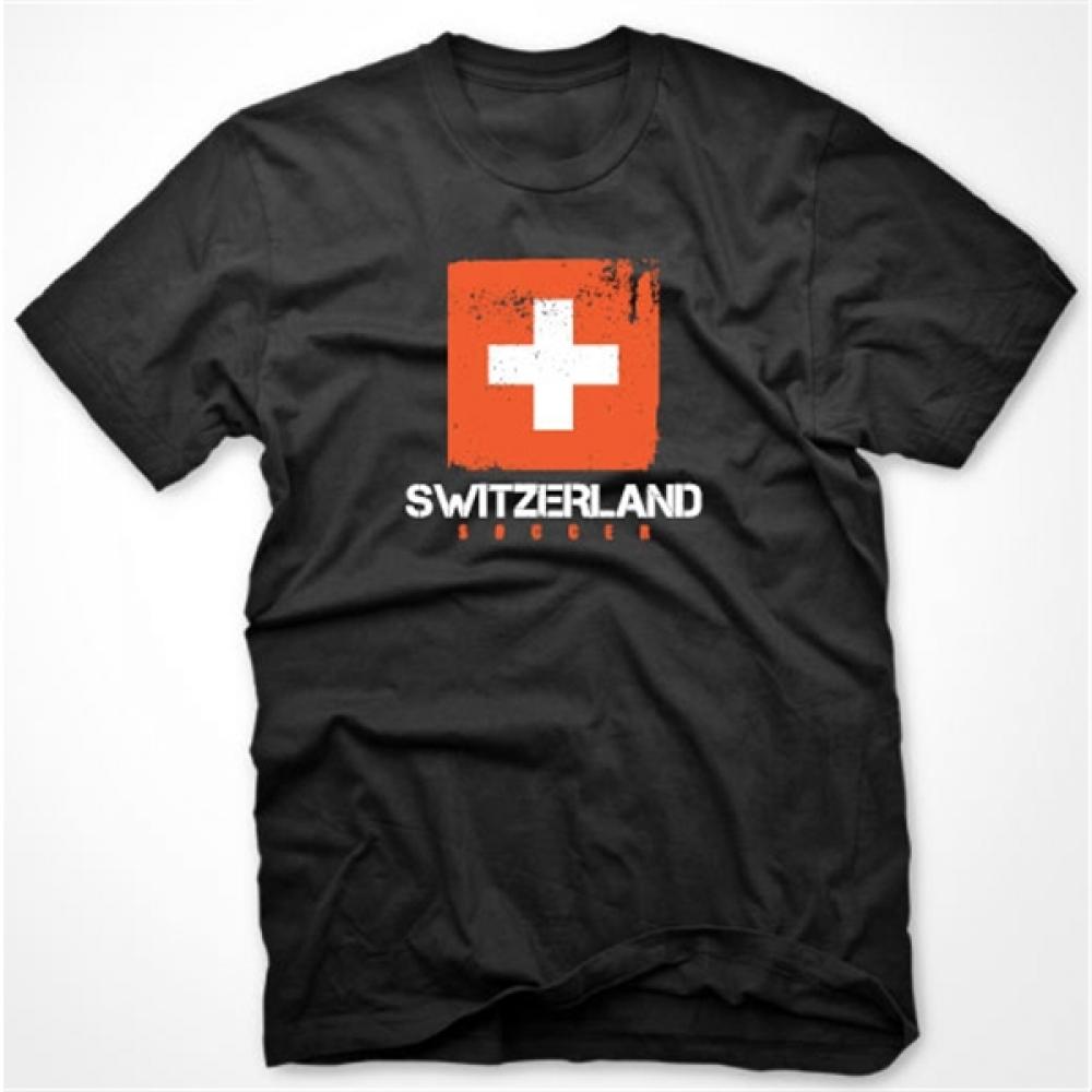 Switzerland Soccer T-shirt (black) [TSHIRTBLACKKIDS ...