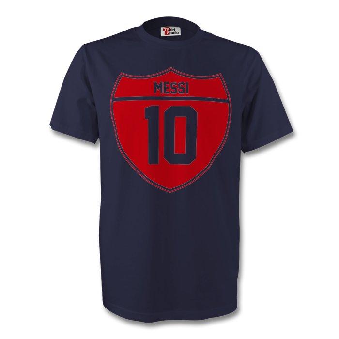 Lionel Messi Barcelona Crest Tee (navy) - Kids