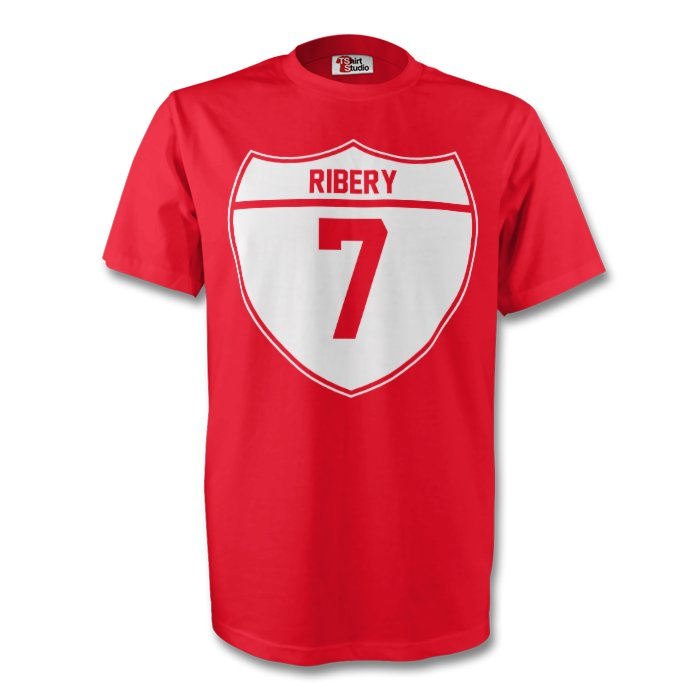 Franck Ribery Bayern Munich Crest Tee (red)