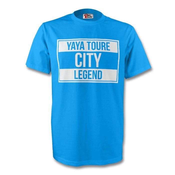 Yaya Toure Man City Legend Tee (sky Blue) - Kids
