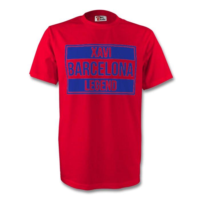 Xavi Barcelona Legend Tee (red) - Kids