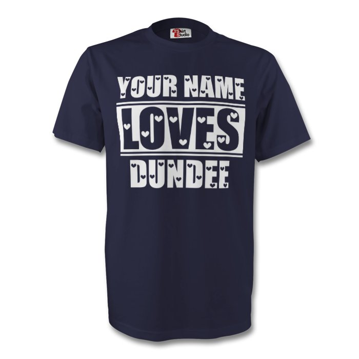 Your Name Loves Dundee T-shirt (navy)