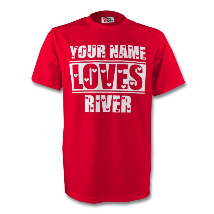 Your Name Loves River T-shirt (red) - Kids