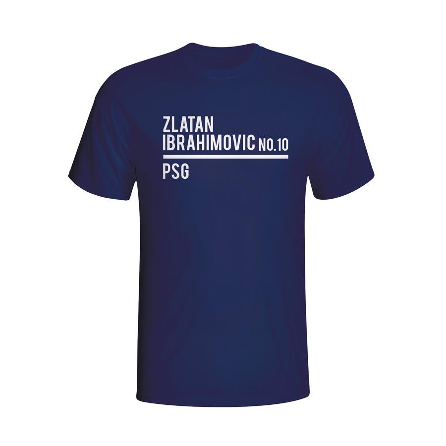 Zlatan Ibrahimovic Psg Squad T-shirt (navy) - Kids