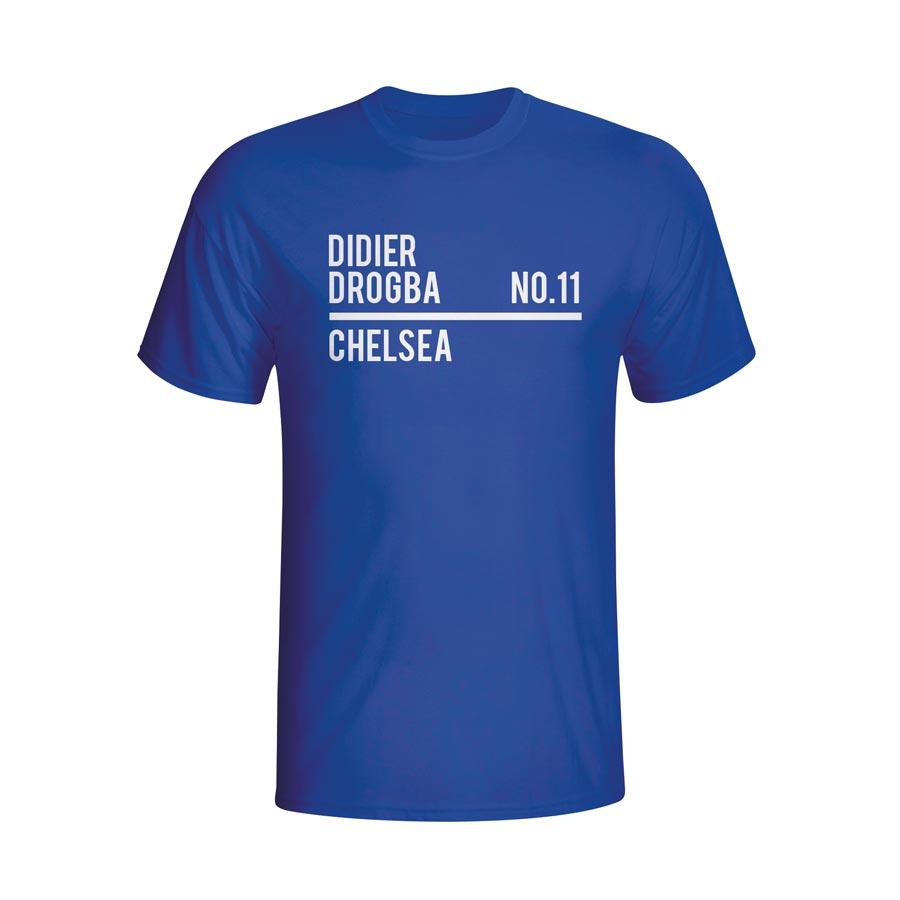 Didier Drogba Chelsea Squad T-shirt (blue)