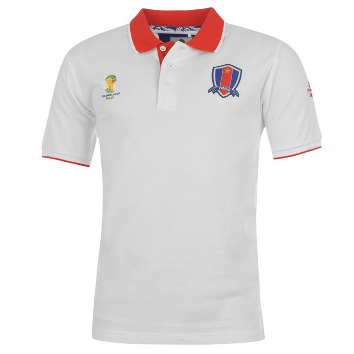 Croatia 2014 Fifa Core Polo Shirt White Uksoccershop