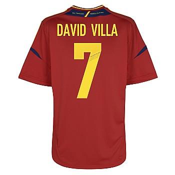 2012-13 Spain Home Shirt (David Villa 7)