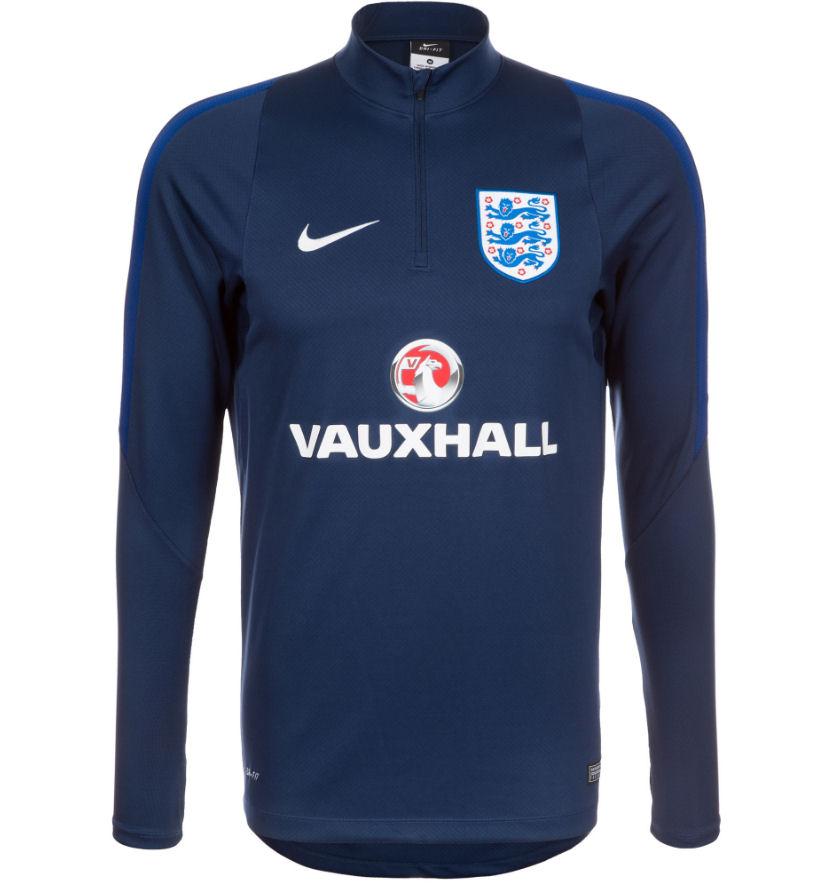 2016-2017 England Nike Training Drill Top (Navy)