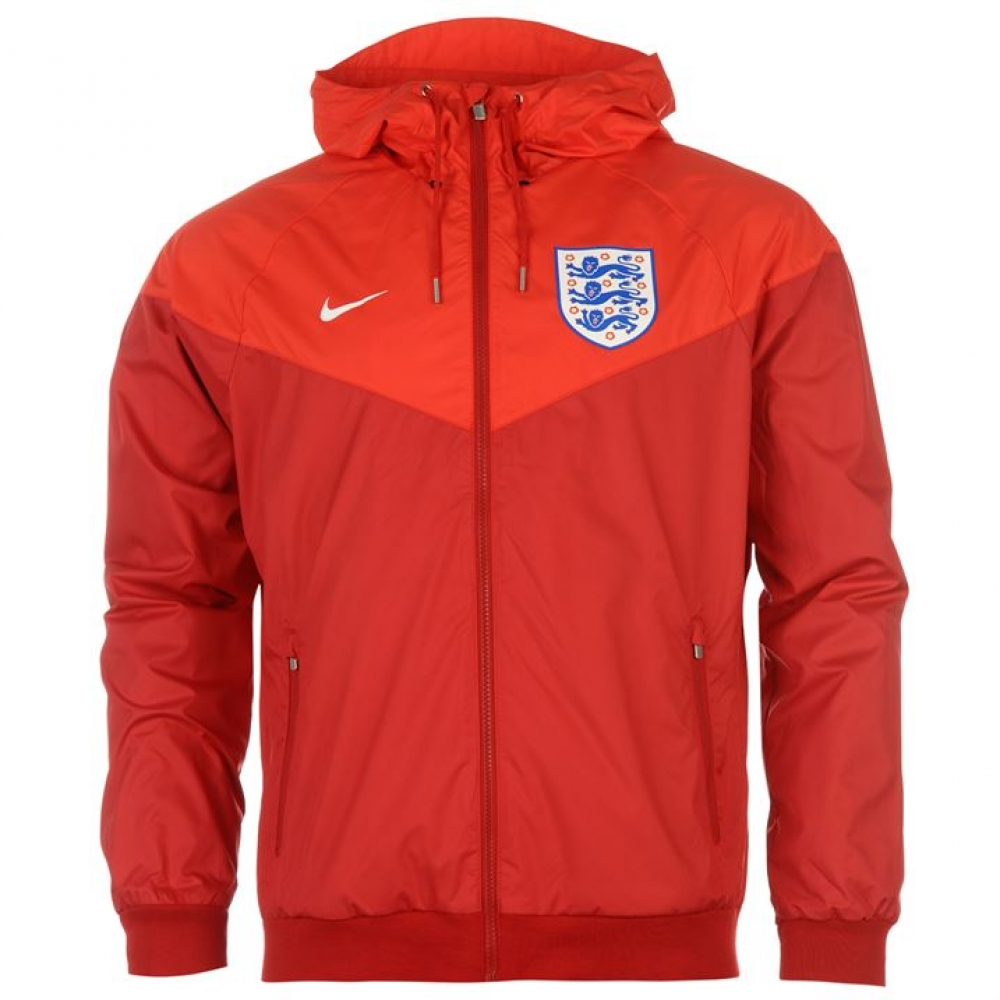2016-2017 England Nike Authentic Windrunner Jacket (Red)