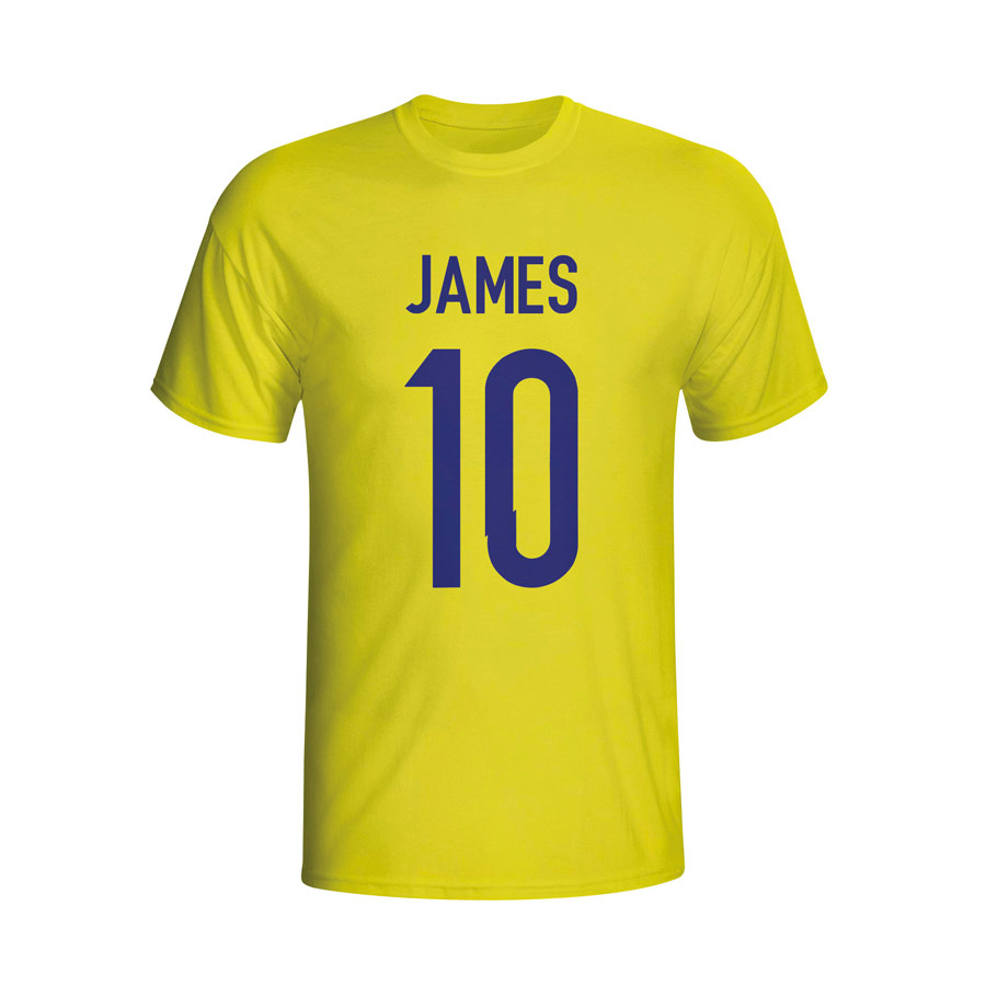 James Rodriguez Colombia Hero T-shirt (yellow)