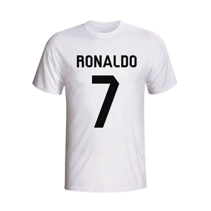 cristiano ronaldo real madrid hero t shirt white. Black Bedroom Furniture Sets. Home Design Ideas