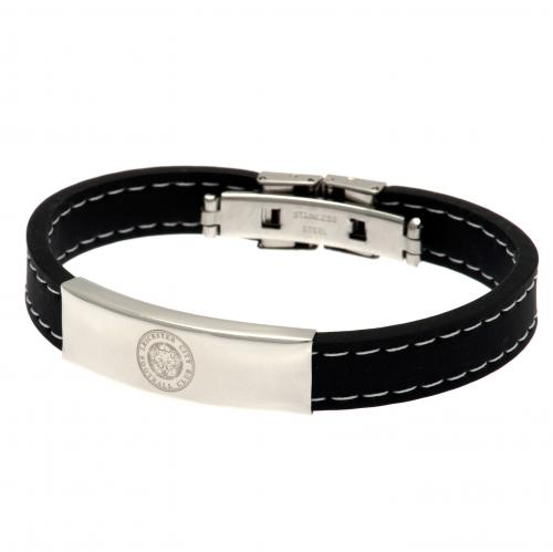 Leicester City F.C. Stitched Silicone Bracelet BK