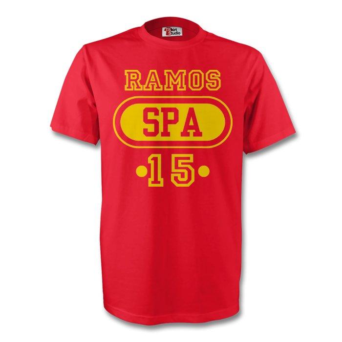 Sergio Ramos Spain Spa T-shirt (red)