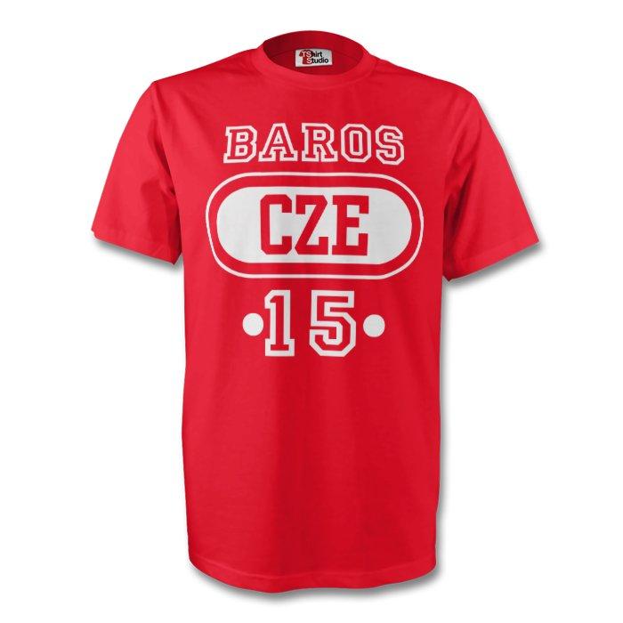 Milan Baros Czech Republic Cze T-shirt (red)