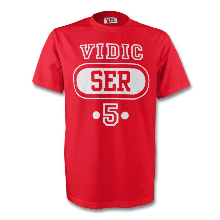 Nemanja Vidic Serbia Ser T-shirt (red) - Kids