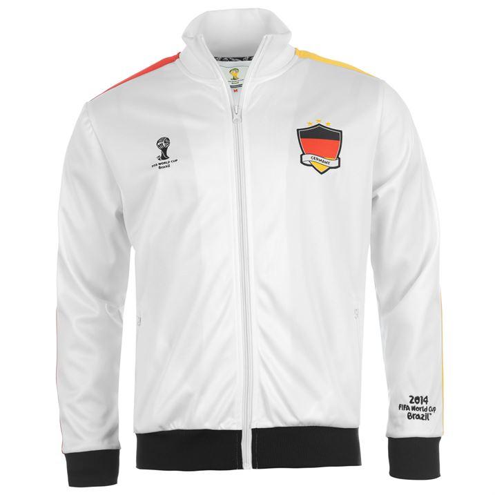 Germany 2014 Fifa Track Jacket White Uksoccershop