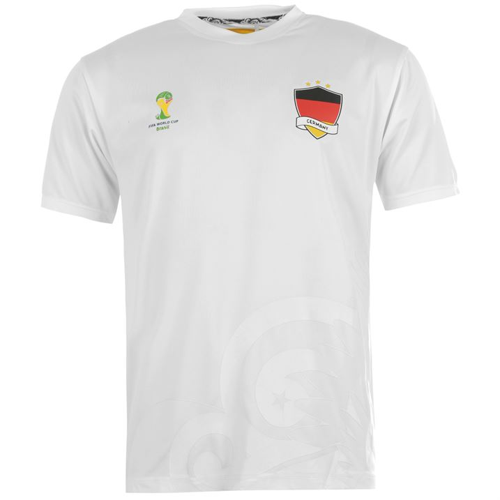 Germany 2014 FIFA Polyester Tee (White)