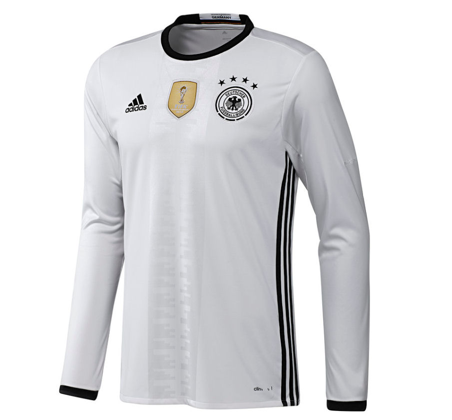2016 2017 germany home adidas long sleeve shirt aa0147 for Brand name long sleeve t shirt