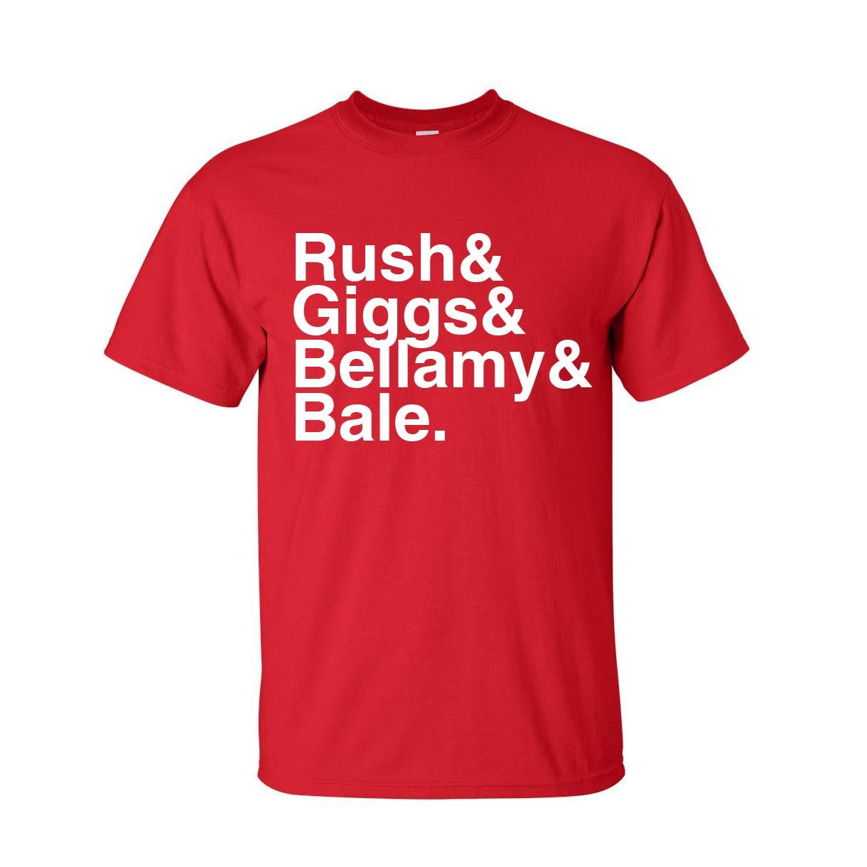Wales Football Legends T-shirt (red)