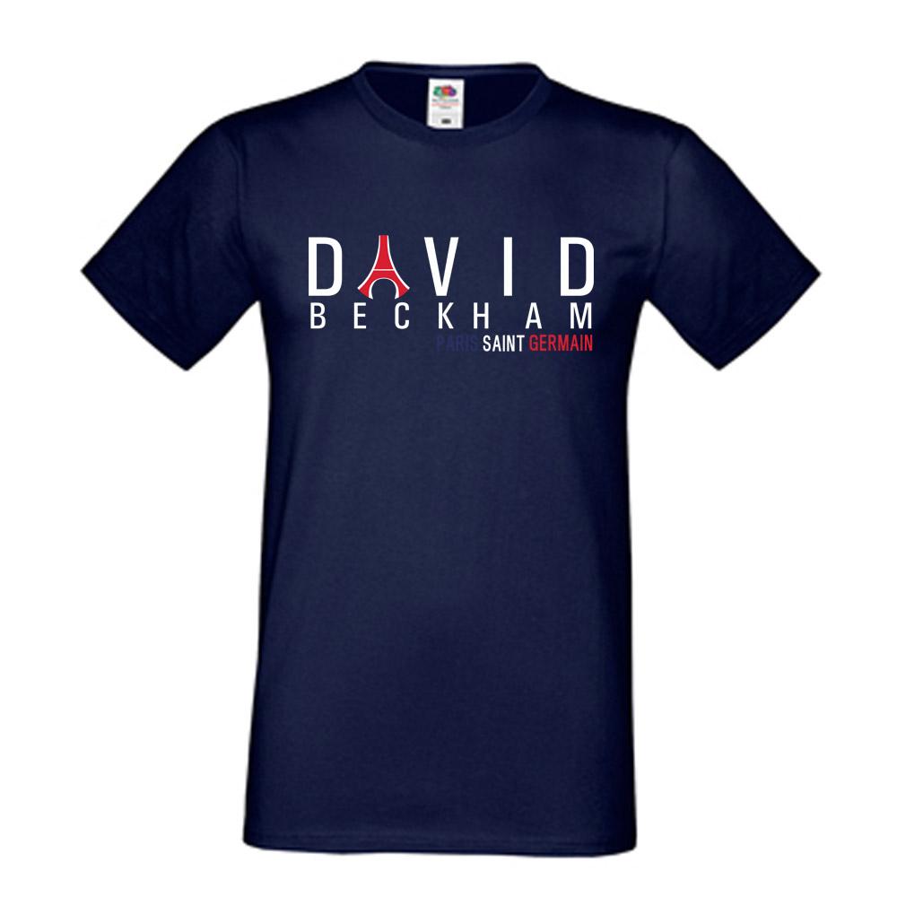 David beckham psg eiffel tower t shirt navy for David beckham t shirt brand