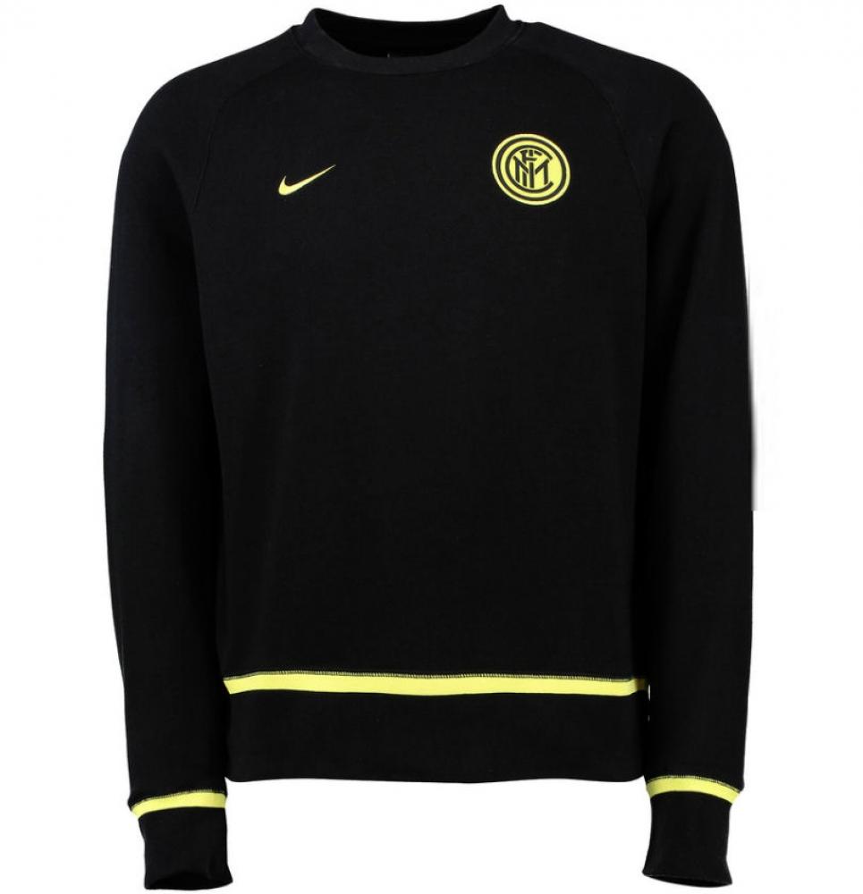 2015-2016 Inter Milan Nike AW77 Authentic LS Crew (Black)