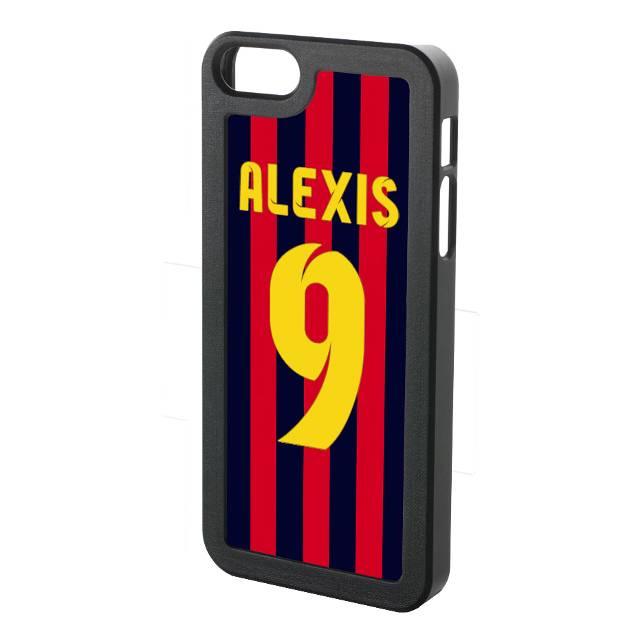 Alexis Sanchez Iphone 4 Cover (red-blue-yellow)