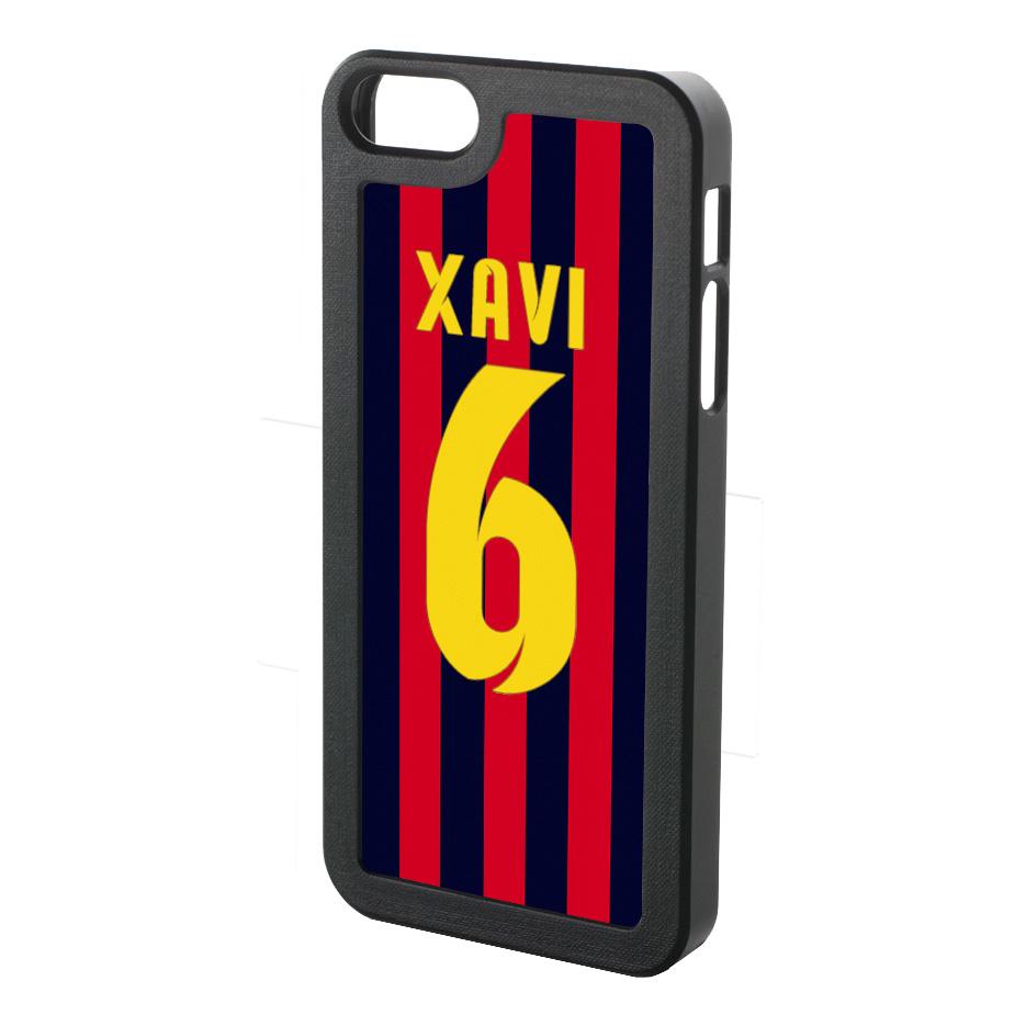 Xavi Hernandez Iphone 5 Cover (red-blue-yellow)