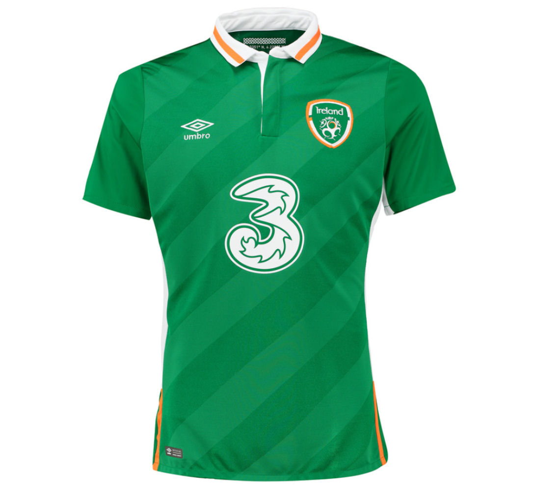 2016-2017 Ireland Home Umbro Football Shirt [75612U-KIT ...