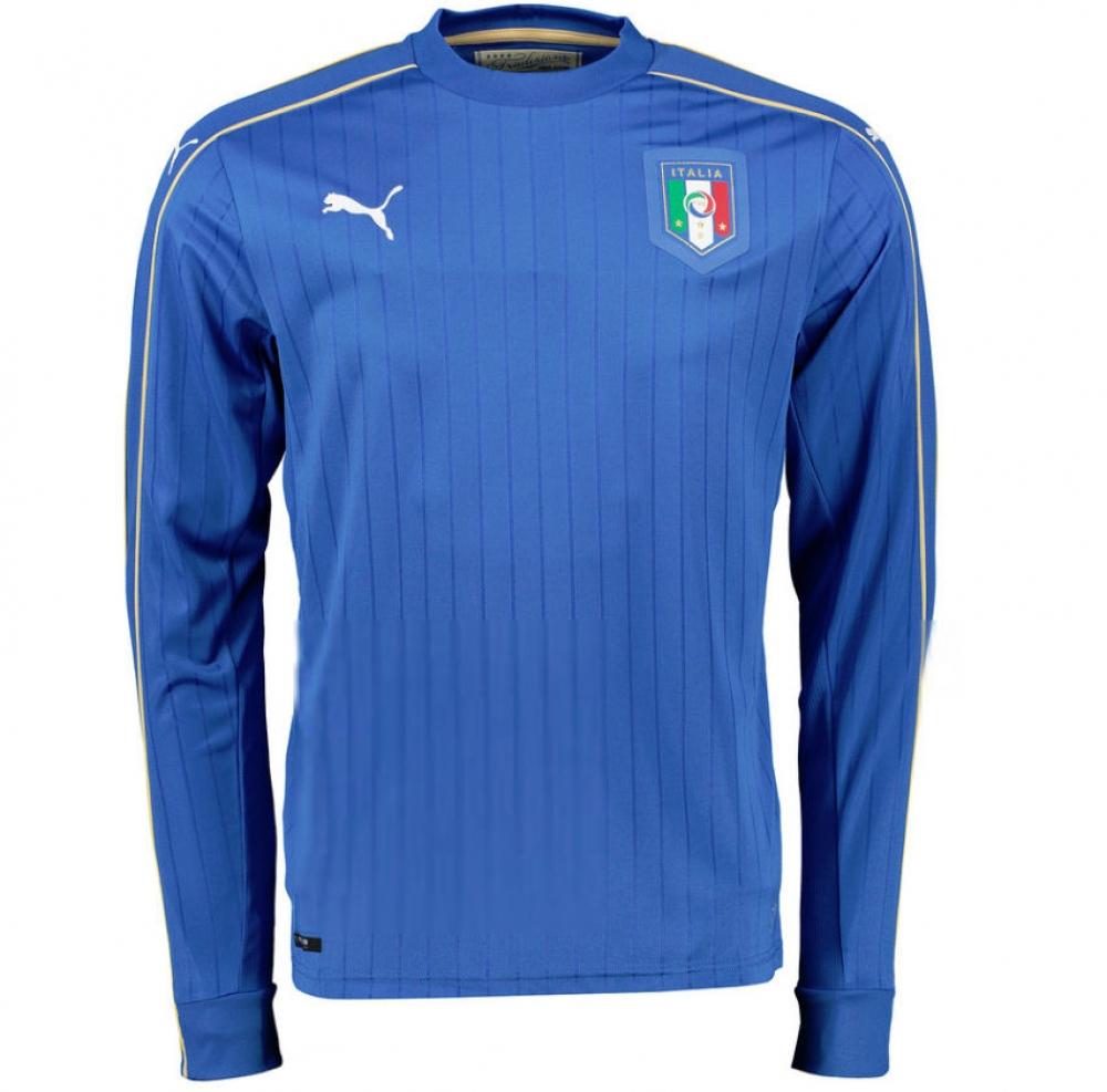 2016 2017 italy home long sleeve puma football shirt for Italian kit