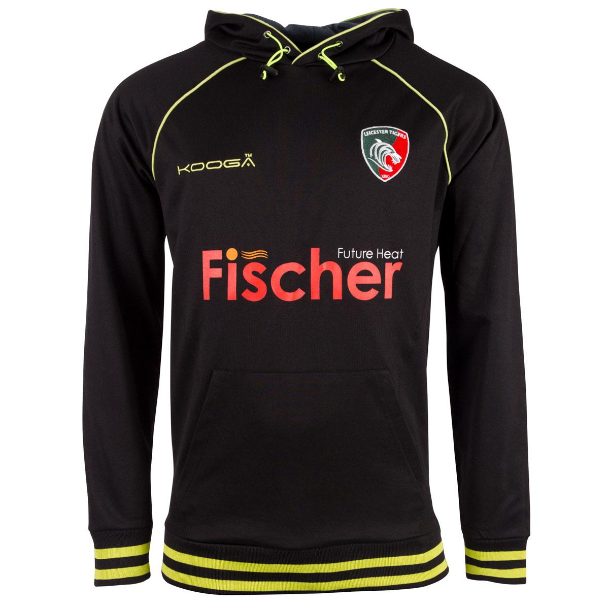2016-2017 Leicester Tigers OH Hoody (Black)