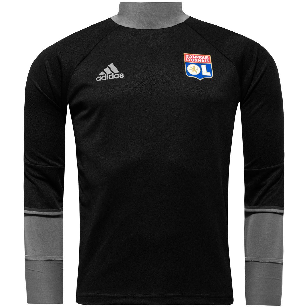 2016-2017 Olympique Lyon Adidas Training Top (Black)
