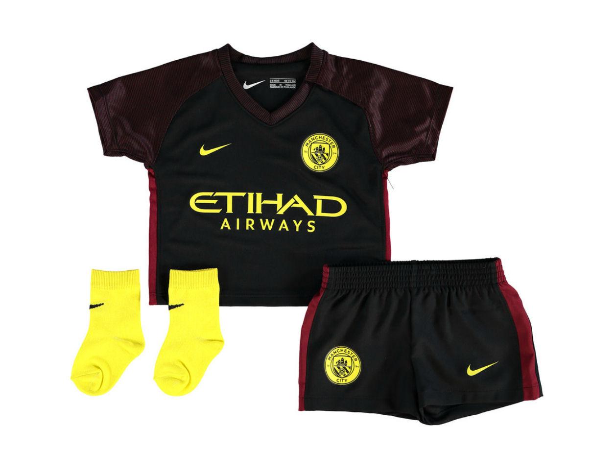 2016-2017 Man City Away Nike Baby Kit