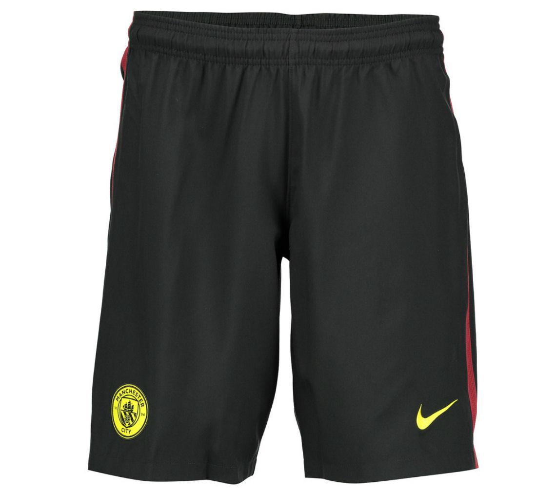 2016-2017 Man City Away Nike Football Shorts (Black)