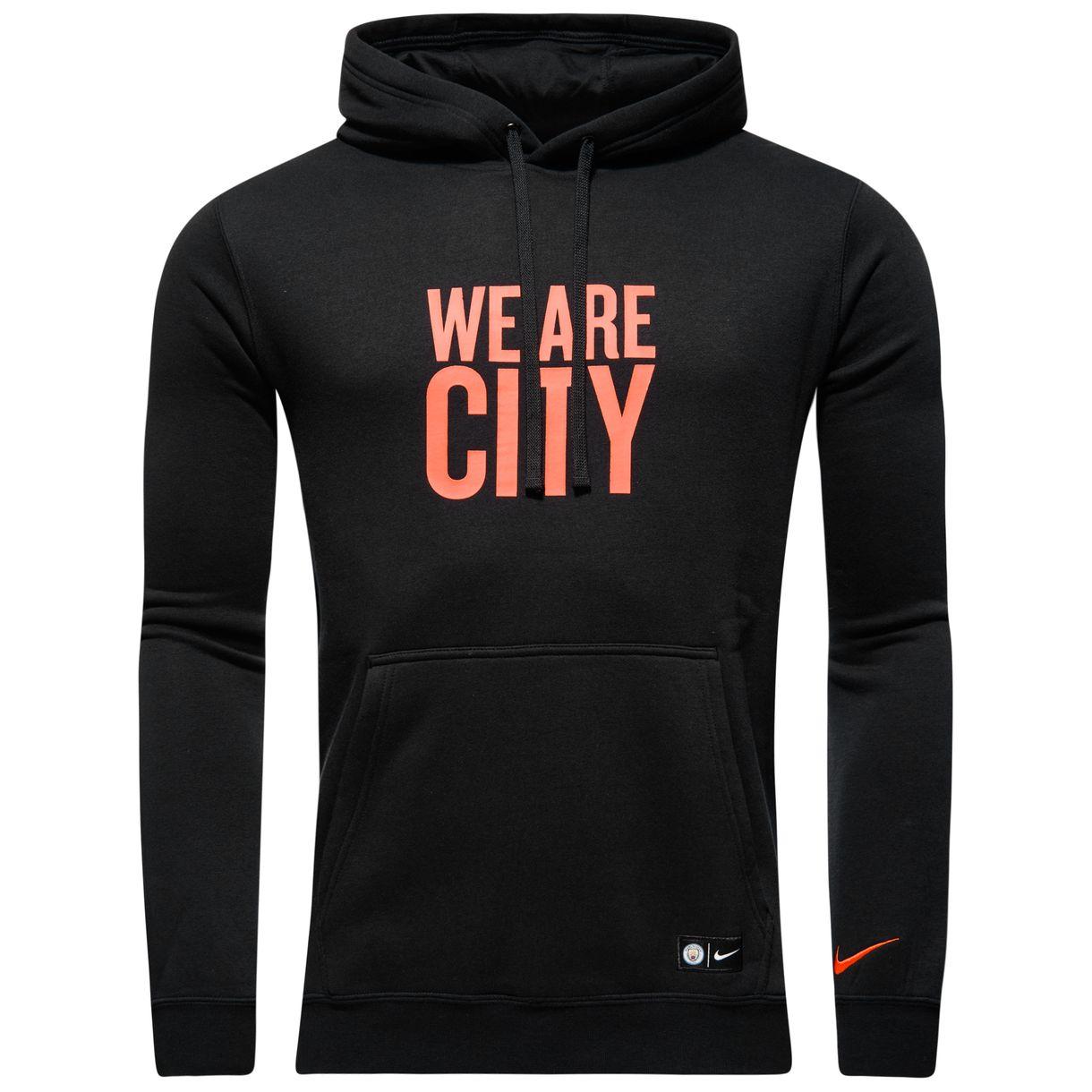 2016-2017 Man City Nike Core Hooded Top (Black)