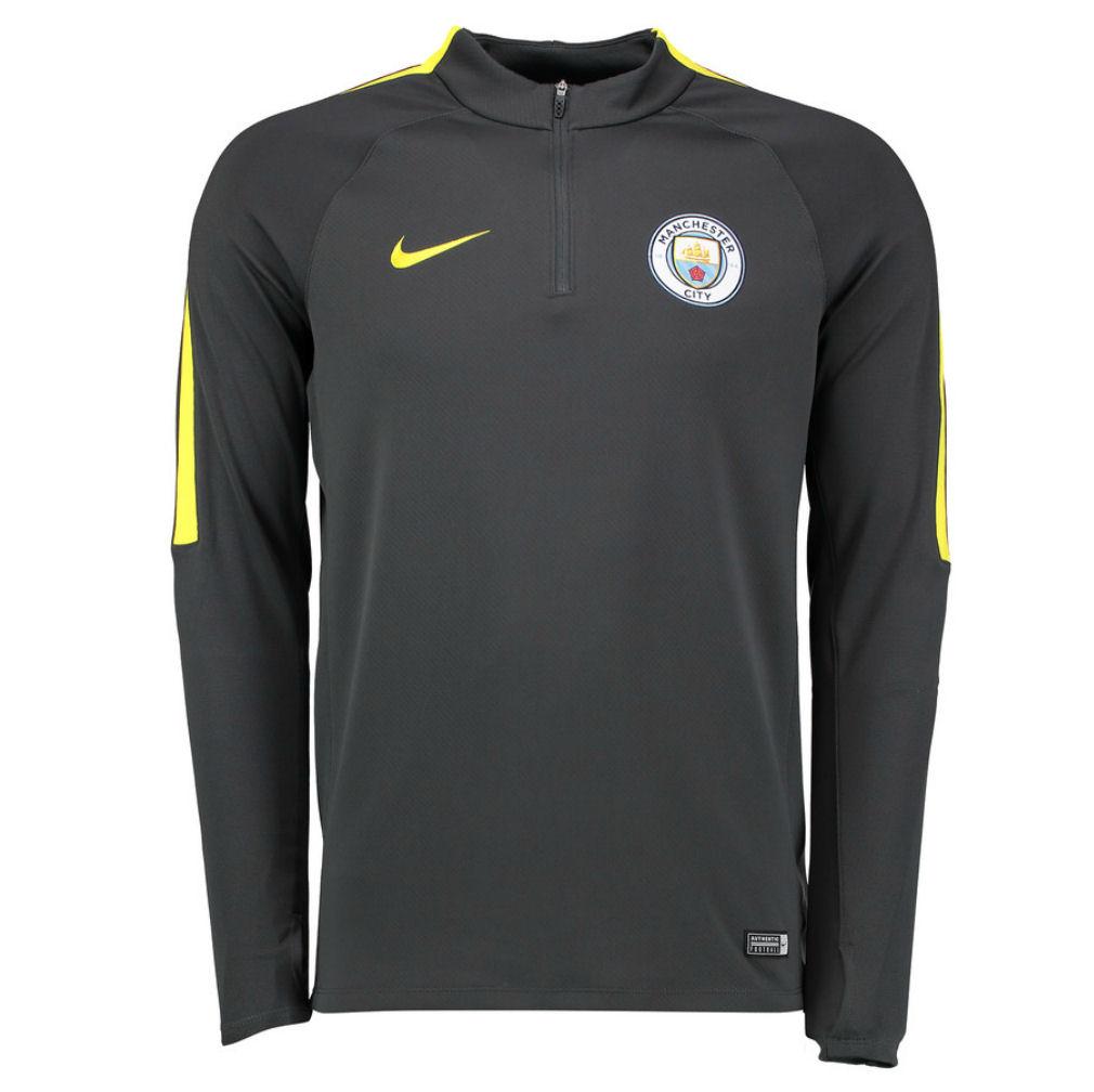 2016-2017 Man City Nike Training Drill Top (Dark Grey)