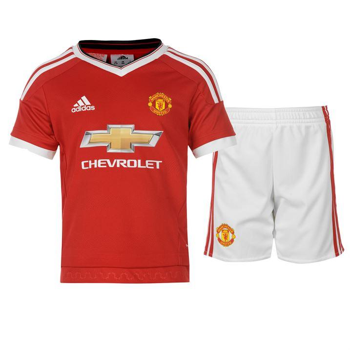 2015-2016 Man Utd Adidas Home Little Boys Mini Kit