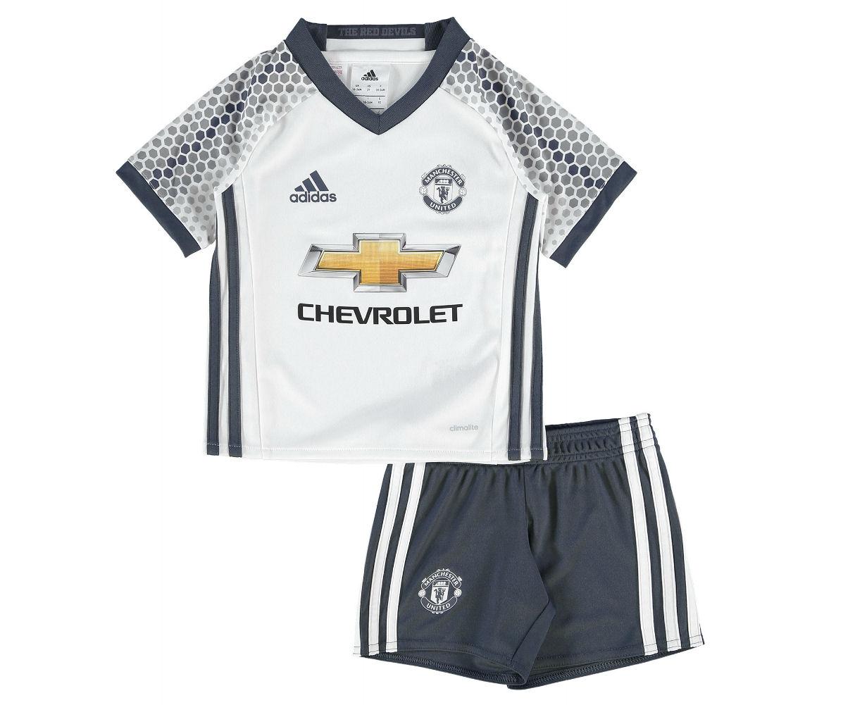 2016-2017 Man Utd Adidas Third Little Boys Mini Kit
