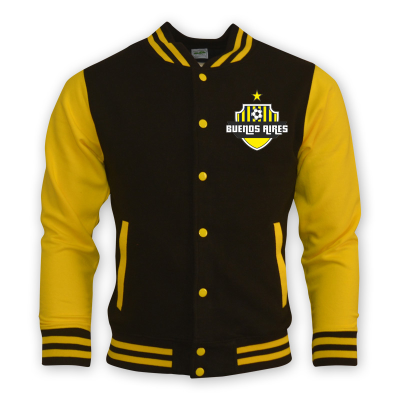 Buenos Aires College Baseball Jacket (yellow)