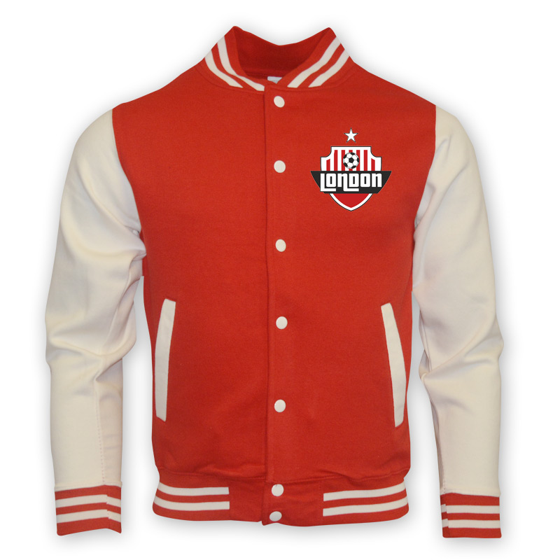 Arsenal College Baseball Jacket (red)