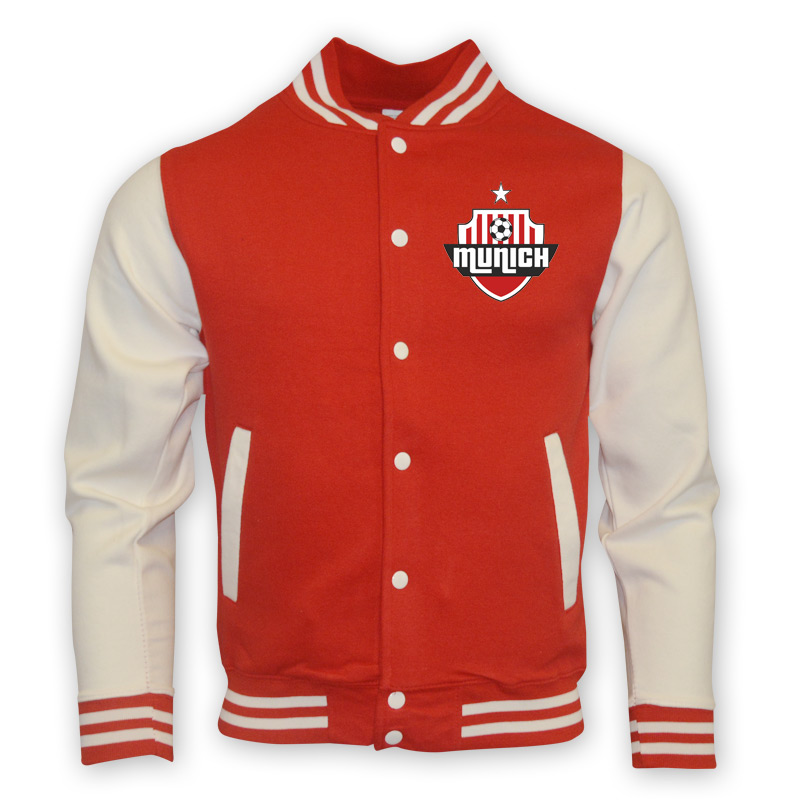 Bayern Munich College Baseball Jacket (red)