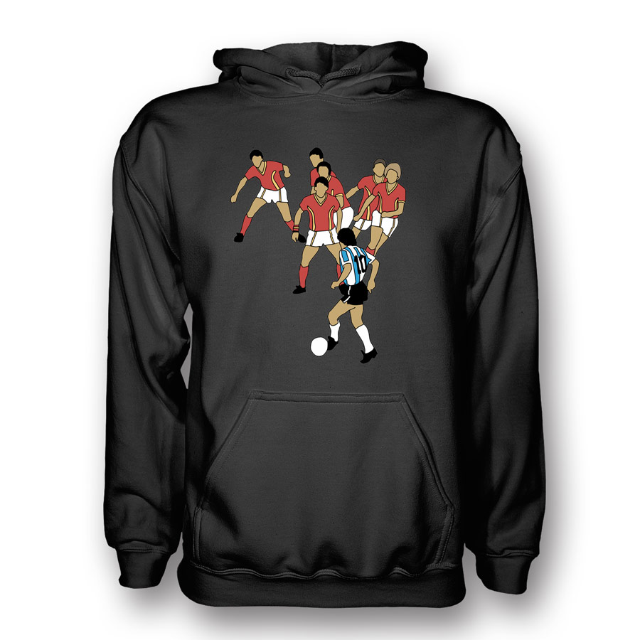 Diego Maradona Goal Of Century Hoody (black)