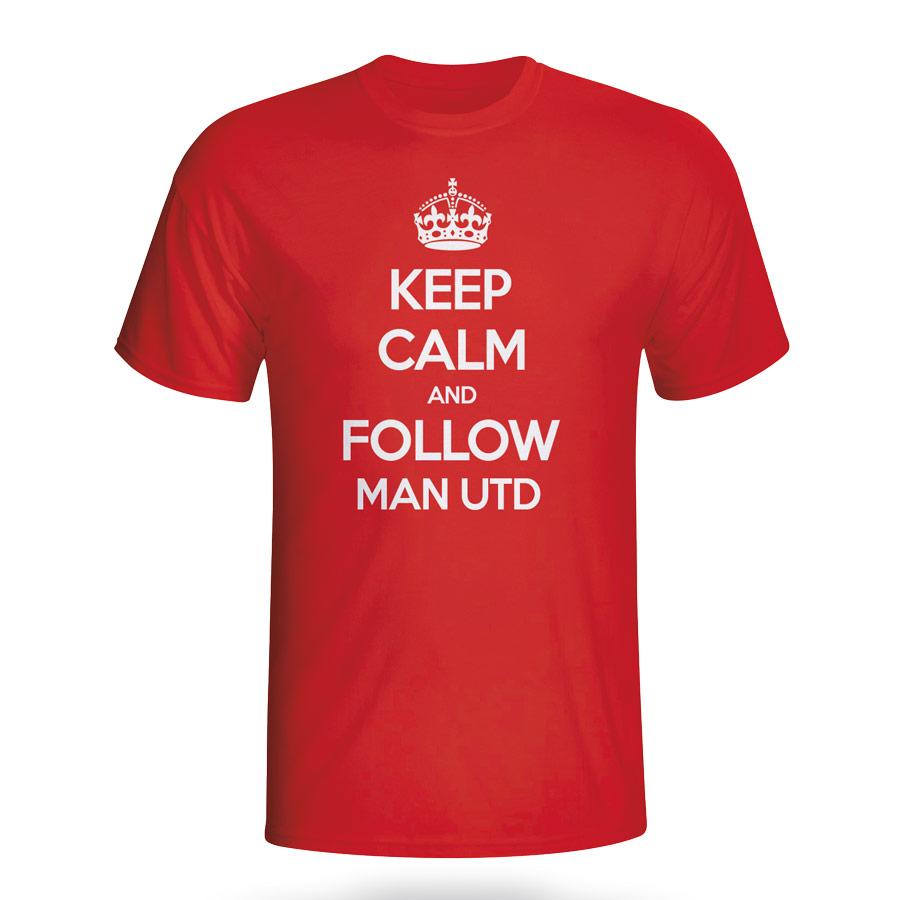 Keep Calm And Follow Man Utd T-shirt (red) - Kids